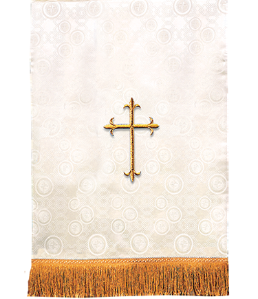 Church Lectern Pulpit Scarf Ivory Brocade