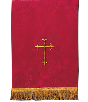 Church Lectern Pulpit Scarf Red Brocade