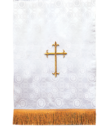 Church Lectern Pulpit Scarf White Brocade