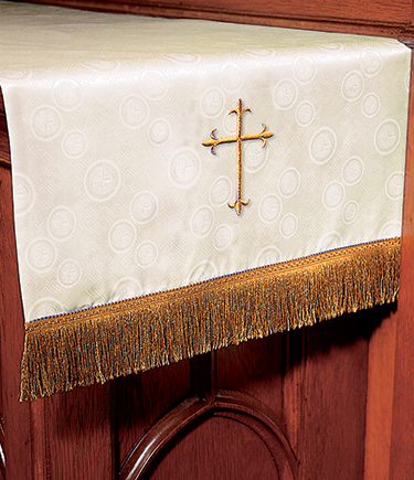Communion Table Runner Ivory Brocade