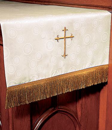 Communion Table Runner Ivory Brocade