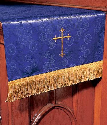 Communion Table Runner Purple Brocade