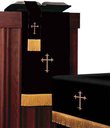 Reversible Church Altar Parament Set Black White