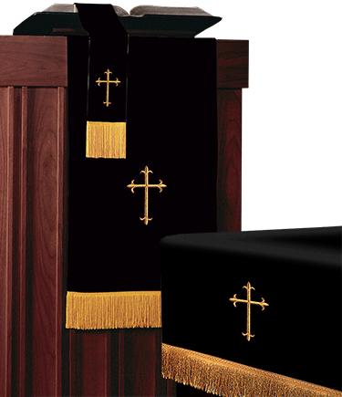 Reversible Church Altar Parament Set Black White