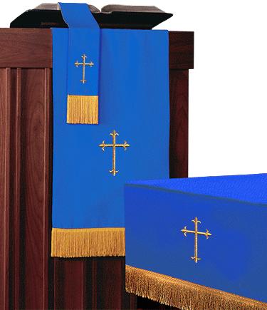 Reversible Church Altar Parament Set Blue White