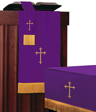Reversible Church Altar Parament Set Purple Green