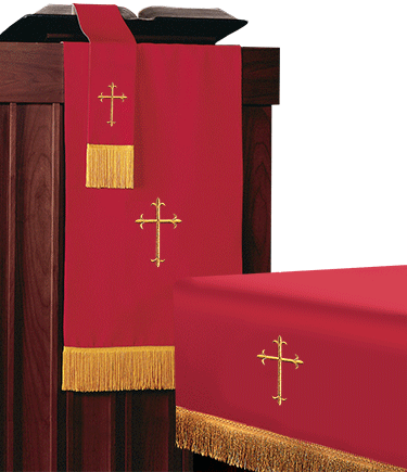 Reversible Church Altar Parament Set Red White-Lightweight