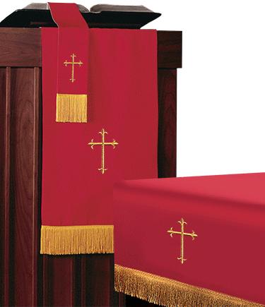 Reversible Church Altar Parament Set Red White-Lightweight