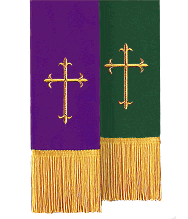 Reversible Church Bible Marker Purple to Green