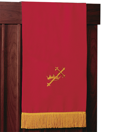 Reversible Church Lectern Pulpit Red to White Cross and Crown