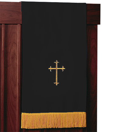 Reversible Church Lectern Pulpit Scarf Black White