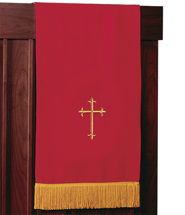 Reversible Church Lectern Pulpit Scarf Red White
