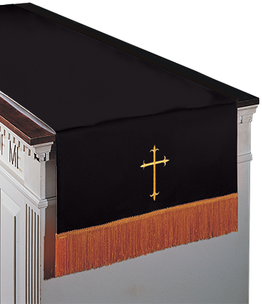 Reversible Communion Table Runner Black to White