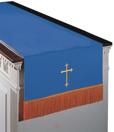 Reversible Communion Table Runner Blue to White