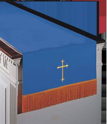 Reversible Communion Table Runner Blue to White