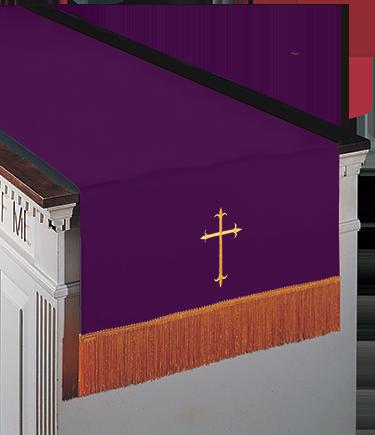 Reversible Communion Table Runner Purple to Green