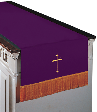 Reversible Communion Table Runner Purple to Green