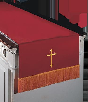 Reversible Communion Table Runner Red to White