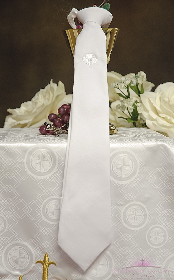 Boys Irish Shamrock First Communion Tie