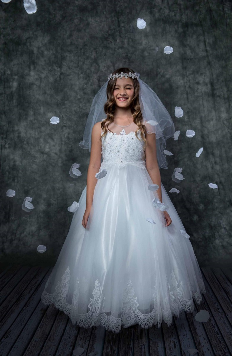 Organza and Lace First Holy Communion Dress