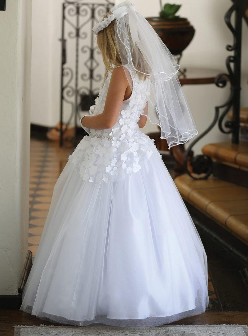 Floral Full Length First Communion Dress