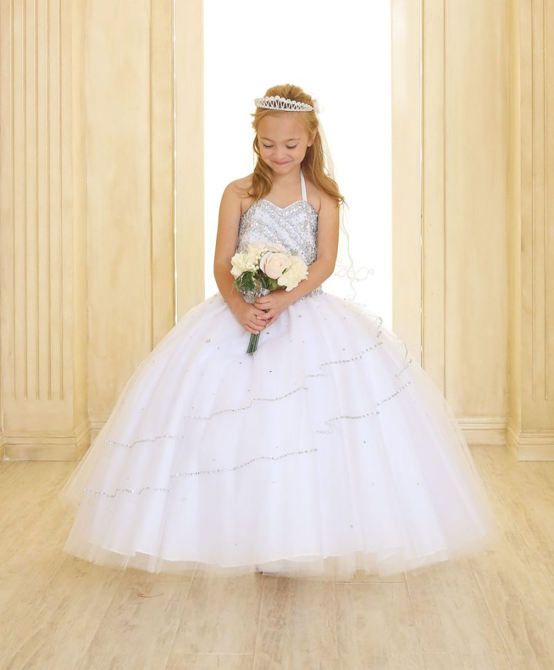 Girls Beaded First Communion Gown with Bolero Jacket