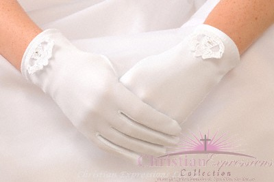 Irish Claddagh First Communion Gloves