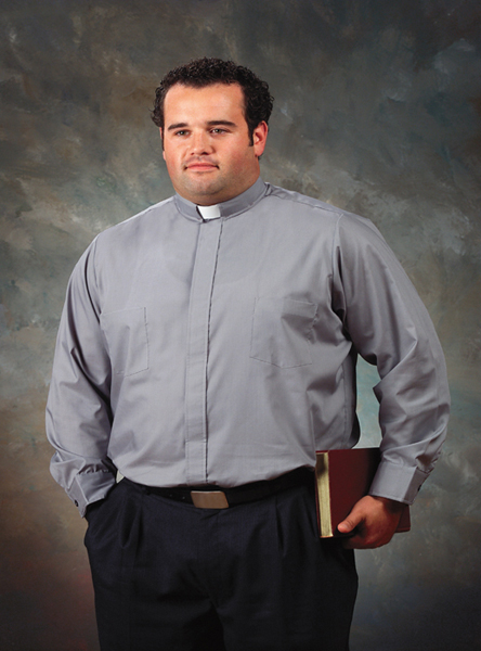 Big-Tall Roomey Toomey Clergy Shirt Long Sleeve, French Cuffs