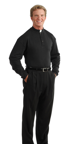Comfort Polo Clergy Shirt Long Sleeve