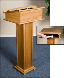 Church Lectern with Shelf