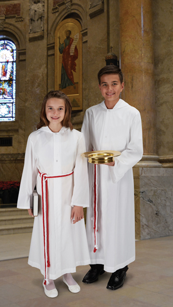 Monastic Altar Server Alb with hood