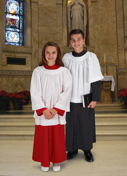 Round Neck Altar Server Surplice
