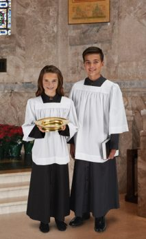 Square Neck Altar Server Surplice