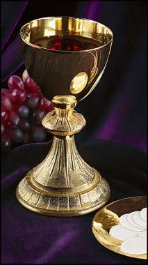 dual finish chalice and paten
