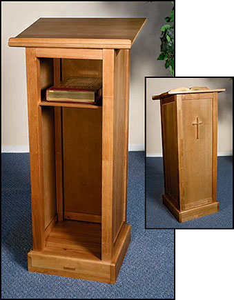 Full Church Lectern with Shelf