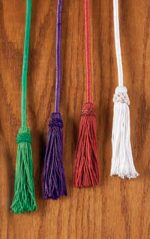 Rayon Cincture with Tassel WHITE