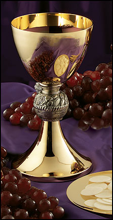 loaves and fishes chalice Gold Brass