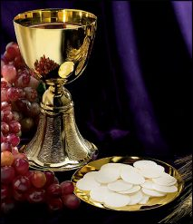 fancy chalice and paten