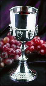 Silver Communion Cup with Grapes