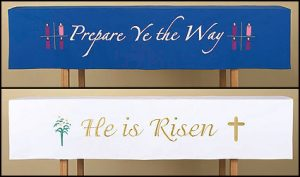 Reversible Christmas & Easter Altar Frontal Parament