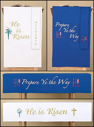 Set of 3 Reversible Christmas & Easter Paraments