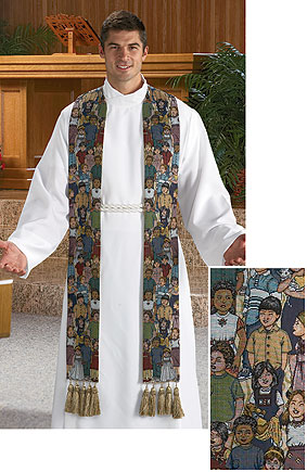 Children of the World Tapestry Clergy Overlay Stole