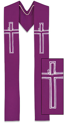 Crown of Thorns Clergy Overlay Stole