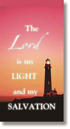 The Lord is My Light Scripture Church Banner