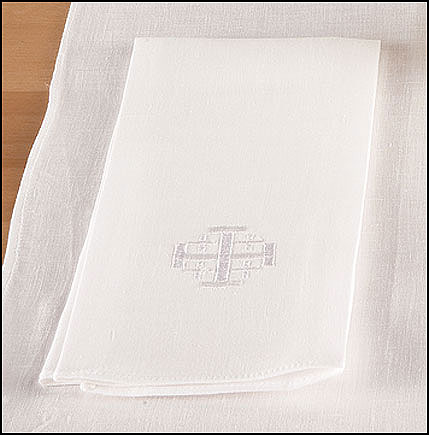 Altar Towel with Jerusalem Cross