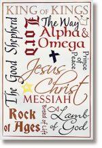 Names of Jesus Scripture Church Banner