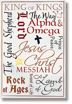 Names of Jesus Scripture Church Banner