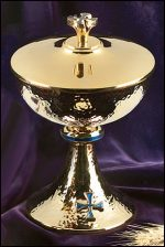 Blue Cross Ciborium with Cover