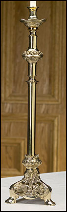 Ornate Brass Altar Candlestick