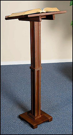 Standing Church Lectern for Altar Maple